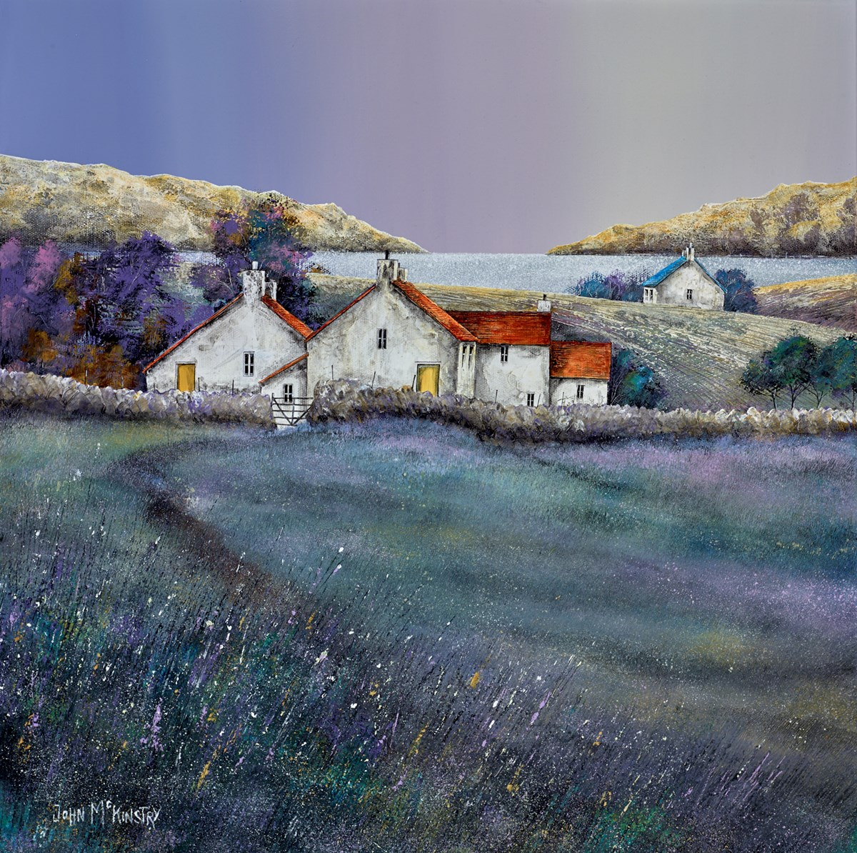 Coast Cottages by john mckinstry -  sized 20x20 inches. Available from Whitewall Galleries